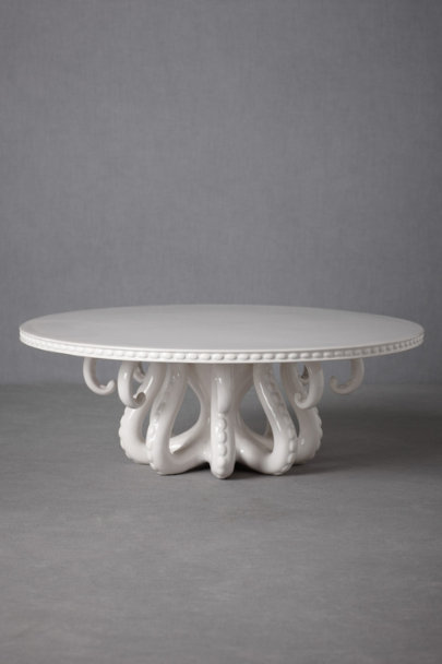 white Tentacled Server Cake Stand | BHLDN