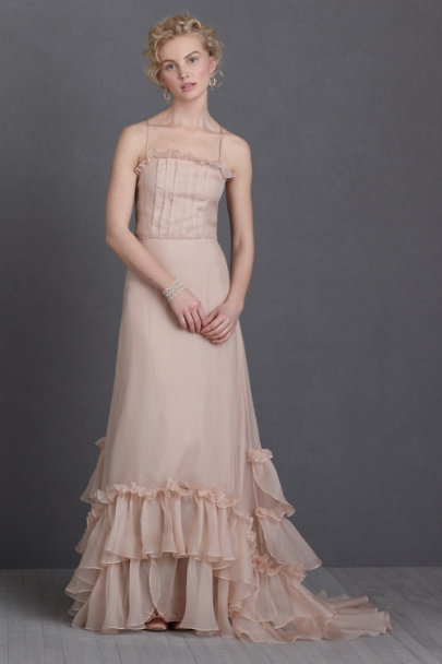 James Coviello blush Sweet Tea Gown | BHLDN