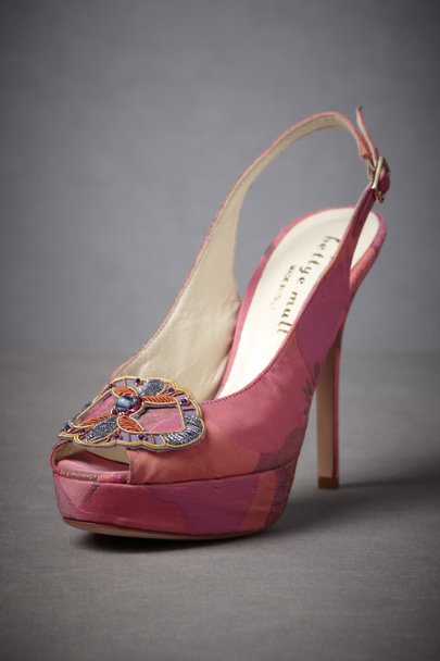 Bettye Muller Pink/Gold Maracatu Slingbacks | BHLDN