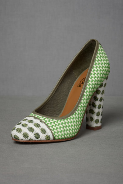 green/grey Topiary Pumps | BHLDN