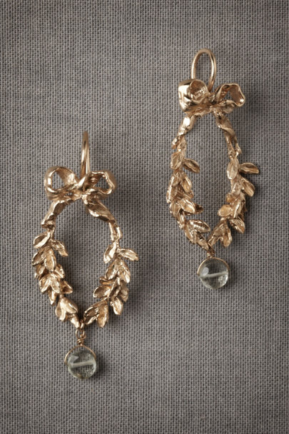 Gold Chaplet Earrings | BHLDN