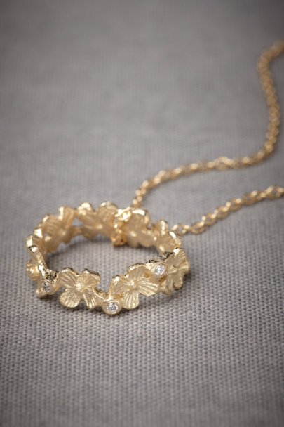 Gold Willowherb Necklace | BHLDN