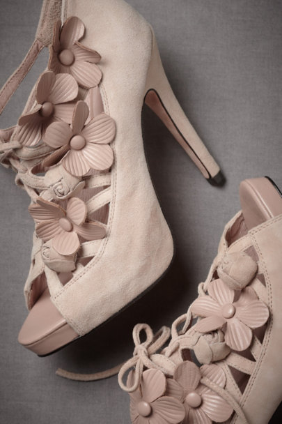 Nude Trellised Aster Lace-Ups | BHLDN