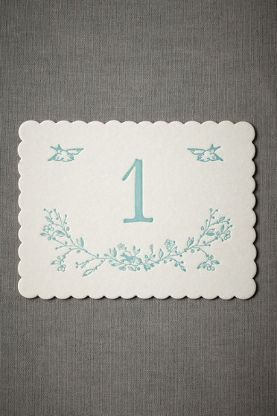 Blue Bird Table Number Cards (1-15)