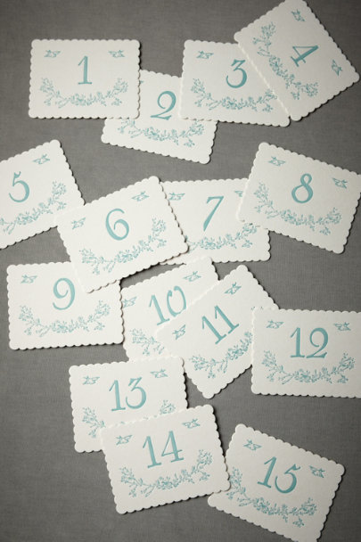 View larger image of Blue Bird Table Number Cards (1-15)