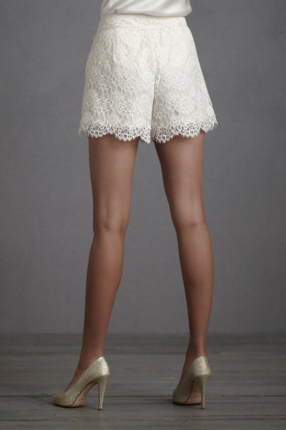 Ivory To-The-Air Shorts | BHLDN