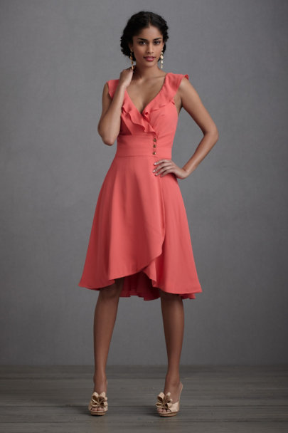 Coral Macaron Shoppe Dress | BHLDN