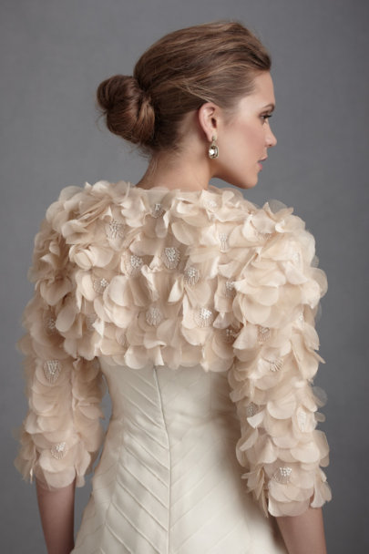 Multi Beige Peach Blossom Jacket | BHLDN