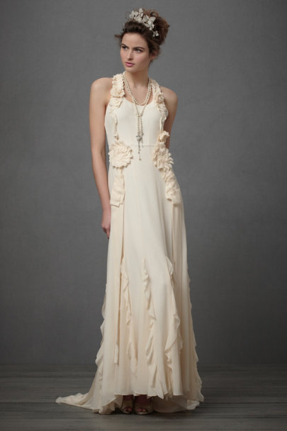 Pale Peach Avante-Garde Gown | BHLDN