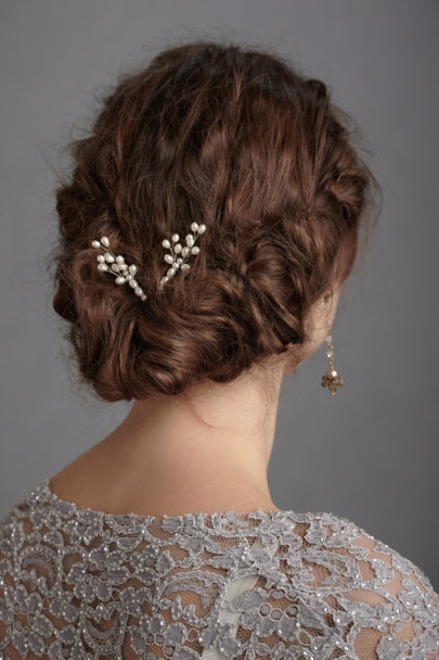Pearl Pussy Willow Hairpins (2) | BHLDN