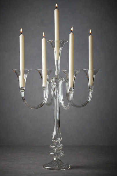 Clear Bent Light Candelabra, Tall | BHLDN