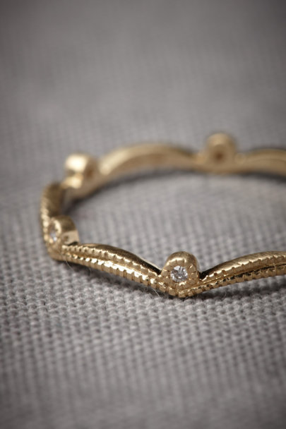 Yellow Gold Diadem Ring | BHLDN