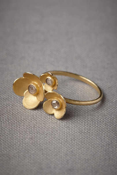 gold Poppy Fields Ring | BHLDN