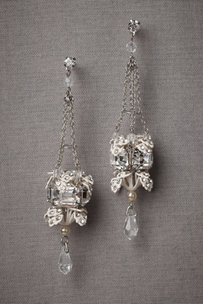 Debra Moreland Silver Luminous Alcove Earrings | BHLDN
