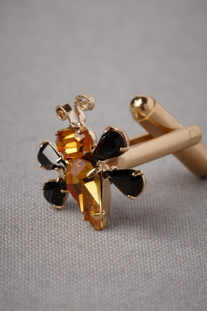 Debra Moreland gold Bee Charmer Cufflinks | BHLDN
