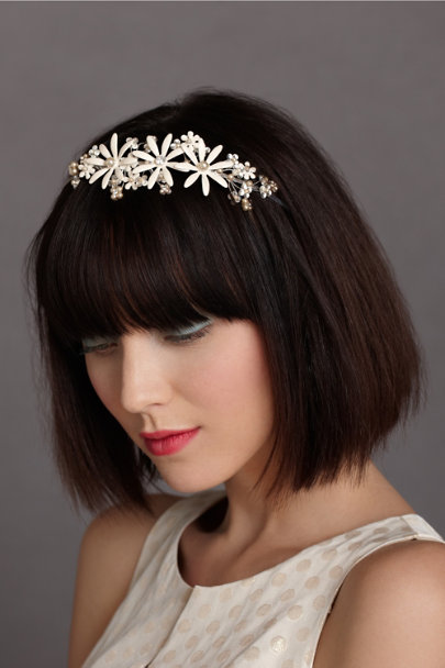 Debra Moreland white Alpine Aster Headband | BHLDN