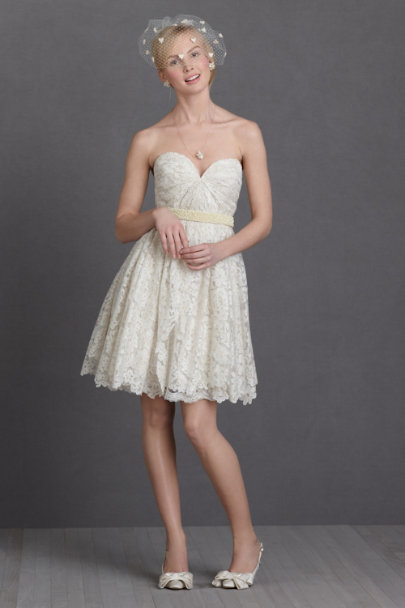 ivory Lustrous Lace Dress | BHLDN