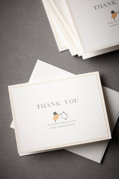 Multi Kissing Pair Thank You Notes (10) | BHLDN