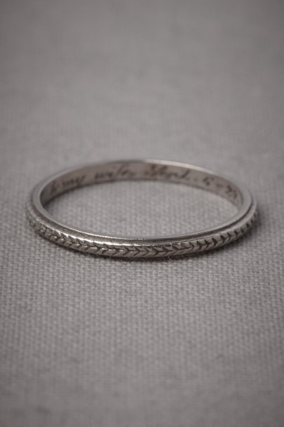 Platinum Plaited Platinum Ring | BHLDN