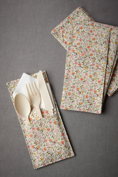 pink In-the-Garden Utensil Sleeves (10) | BHLDN
