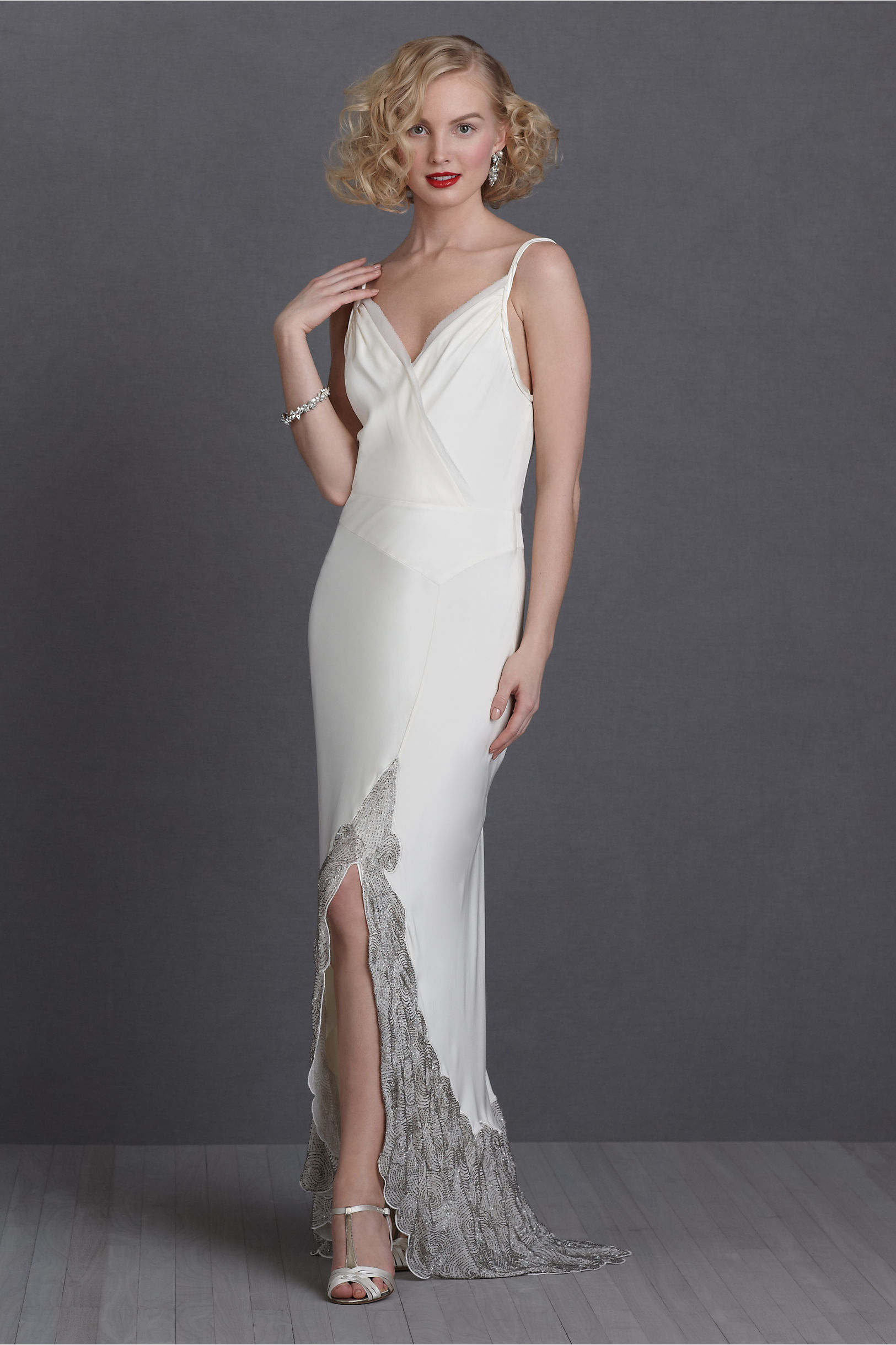 Swirling Platinum Gown in New & Noteworthy | BHLDN