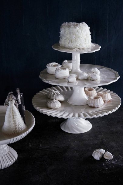 cream Royal Icing Cake Stands | BHLDN