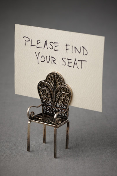 silver Have a Seat Place Card Holder | BHLDN