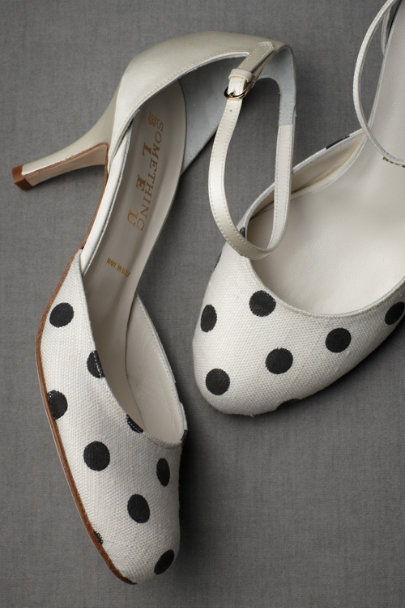 black/white Polka-Dot Mary Janes | BHLDN