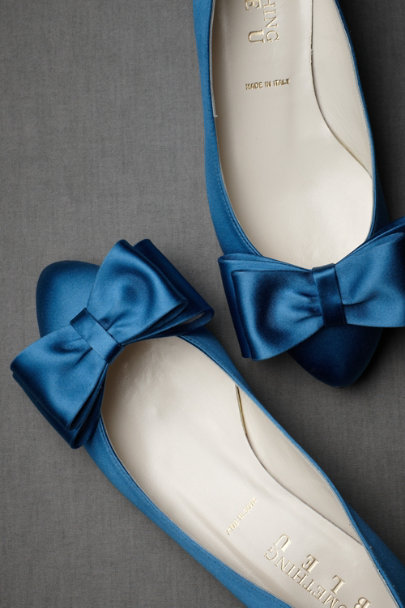 french blue Bowtie Flats | BHLDN