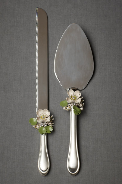 silver Sakura Serving Set | BHLDN