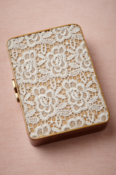ivory Acacia Lace Clutch | BHLDN