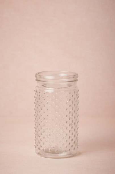clear Hobnail Glass Jars | BHLDN