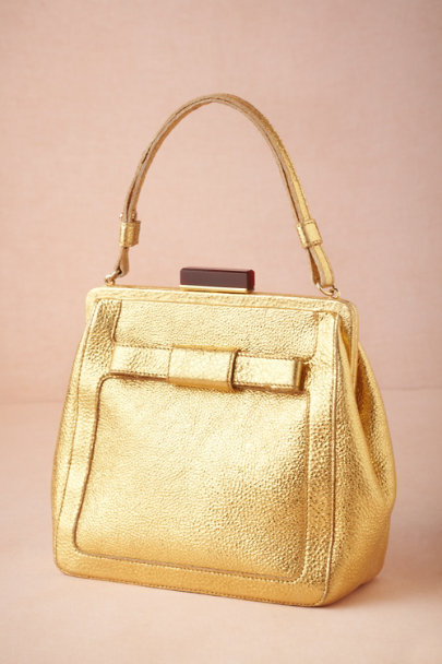 Orla Kiely gold Golden Ratio Satchel | BHLDN