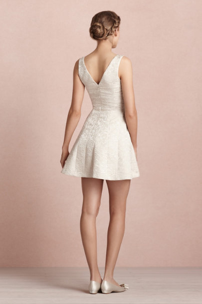 champagne Frost Flower Dress | BHLDN