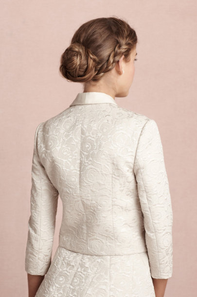 champagne Frost Flower Jacket | BHLDN