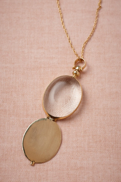 gold Faceted Glass Locket | BHLDN