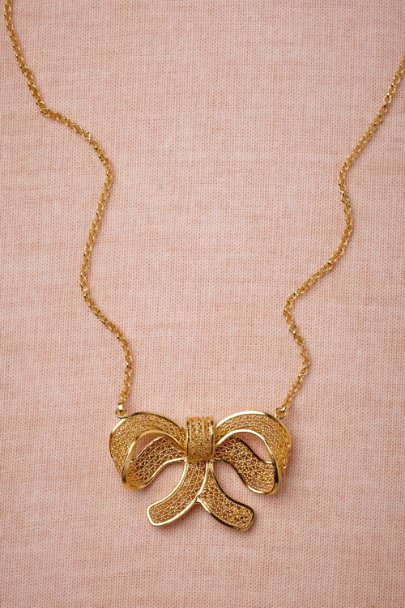 gold Felicity Necklace | BHLDN