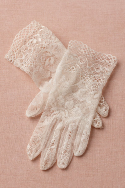 white Heritage Gloves | BHLDN