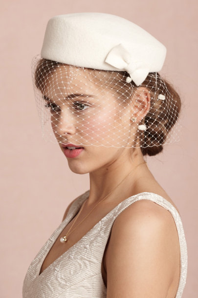 Mademoiselle Slassi ivory Fair Weather Pillbox | BHLDN