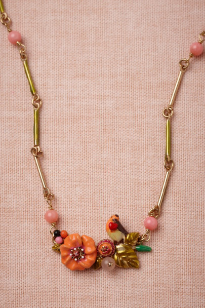Les Néréides orange motif Tropics Necklace | BHLDN