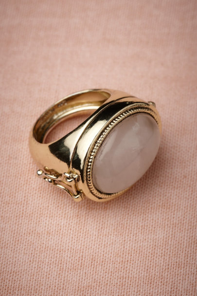 Les Néréides gold Ring Box Ring | BHLDN