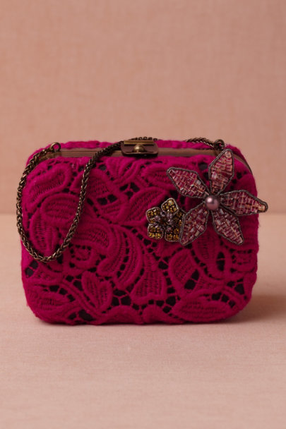 Tataborello pink Honeysuckle Clutch | BHLDN