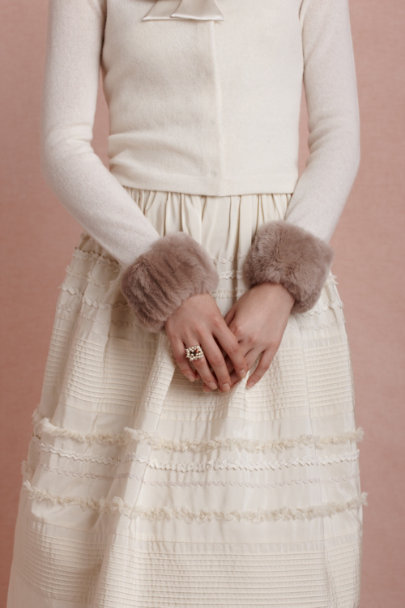TAUPE Lapin Cuffs | BHLDN