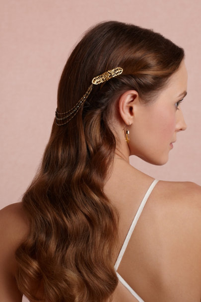 gold Prague Barrette | BHLDN