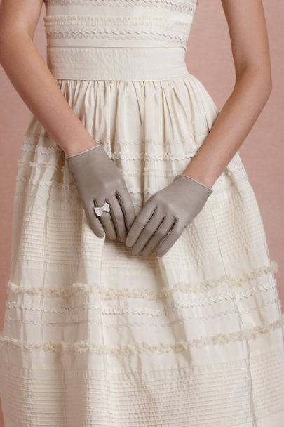 grey Genteel Gloves | BHLDN