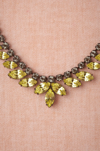 yellow Fluttering Petals Necklace | BHLDN