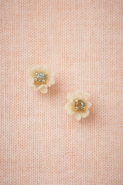 Salet white Crystal Cup Earrings | BHLDN