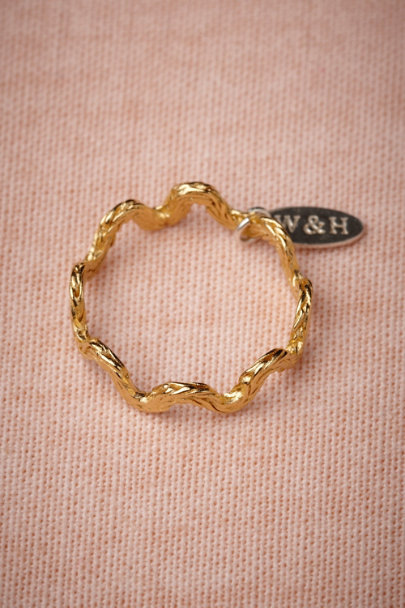 gold Ric Rac Ring | BHLDN