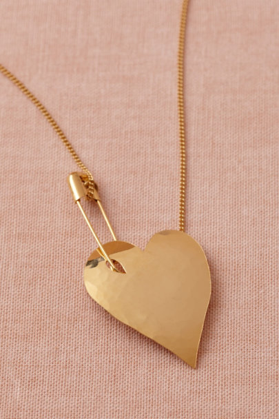 gold Held Fast Necklace | BHLDN