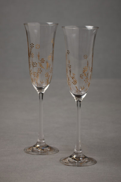 clear/gold 'I Do' Flutes (2) | BHLDN